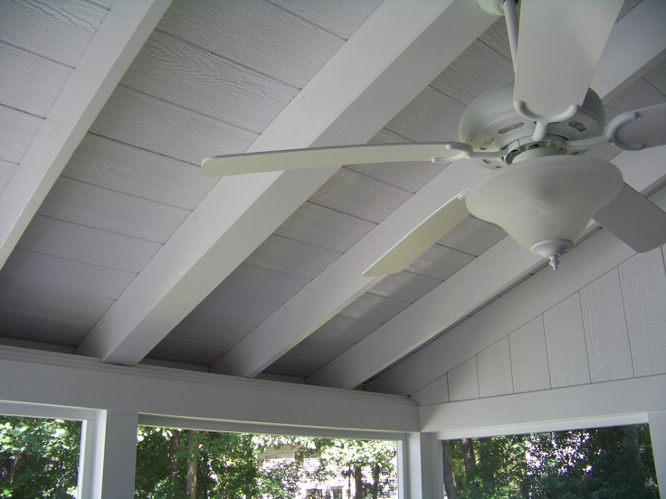 Screen porch ceiling screened porch pinterest for Balcony ceiling