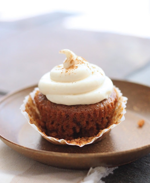 ... maple cream cheese frosting. I'm just going to do regular cream cheese