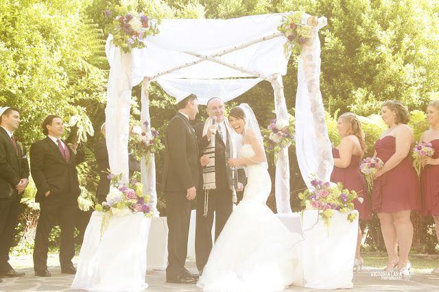Jewish Wedding Chuppah With Flowers Victoria Lara Photography P