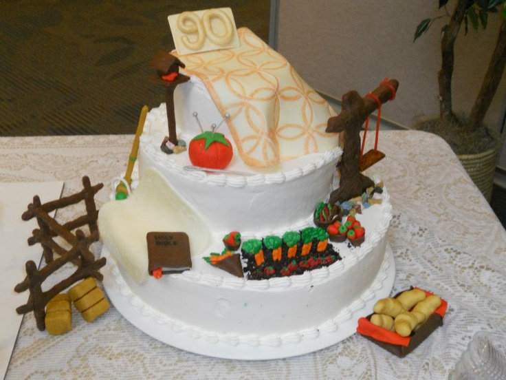 Birthday cake for 90 yr old mother-in-law http://www.letim.info ...
