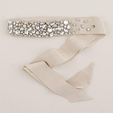 rhinestone encrusted sash from j.crew *bling*