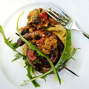 ... soirée | Merguez with Chickpea Puree and Eggplant Jam | Sunset.com