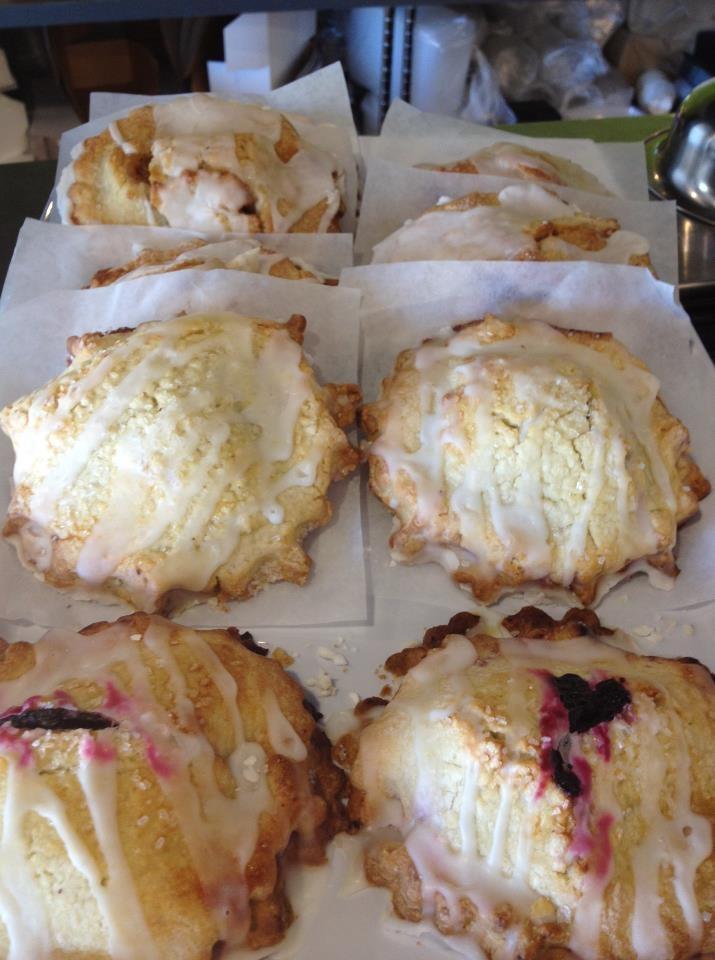 Gluten-free & Dairy-free Blueberry, Peach & Apple Hand-pies.