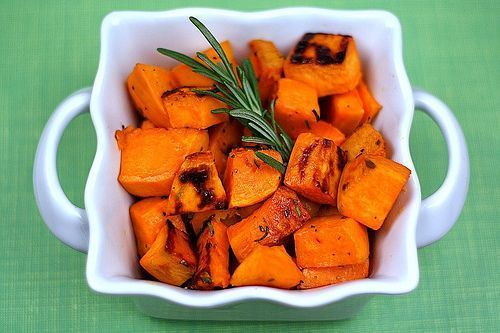 Roasted Sweet Potatoes with Agave Nectar and Fresh Rosemary   Recipe