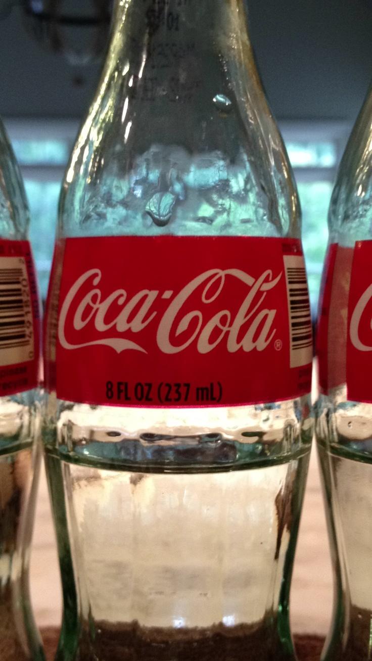 Old fashion coca cola bottles