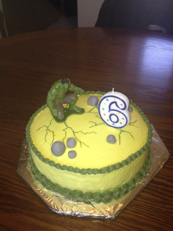 Hulk birthday cake  Birthday party  Pinterest