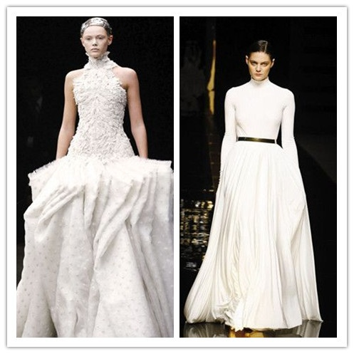 sarah burton winter bridal gowns winter wedding fashion