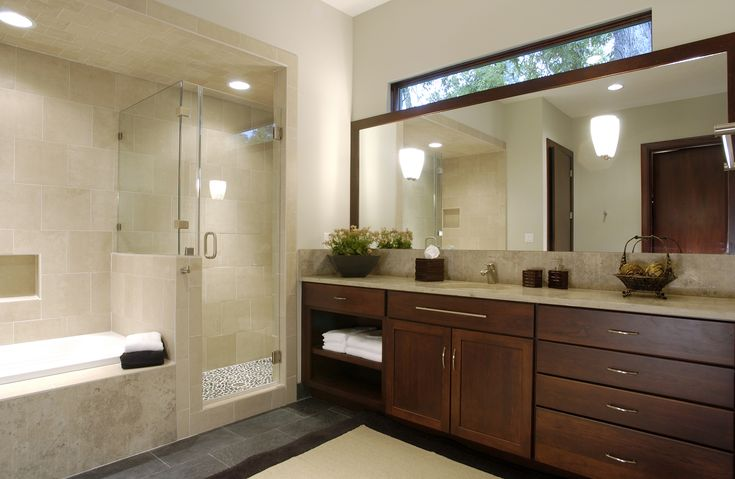 Custom wood products bathroom cabinets bathrooms by for Custom bath cabinets