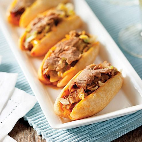 ... cheese steak is two or three bites of love, loaded with tender steaks