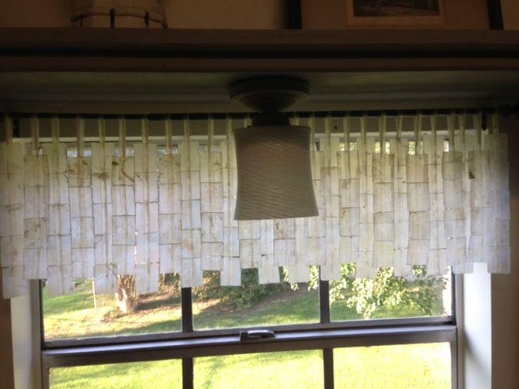 Capiz shell valance ayala heights pinterest for Capiz window