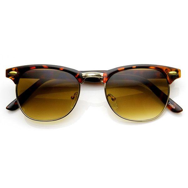 Half Frame Clubmaster Glasses : Vintage Style Steampunk Half Frame Clubmaster Wayfarer ...