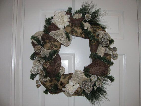 Elegant christmas wreath on etsy 110 00