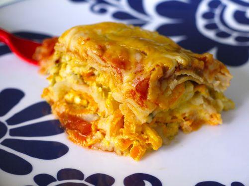 Crock Pot Mexican Tortilla Lasagna from Weelicious (http://punchfork ...