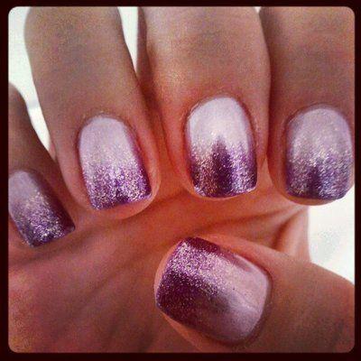 Light lavender silver purple ombre gel mani by sophia
