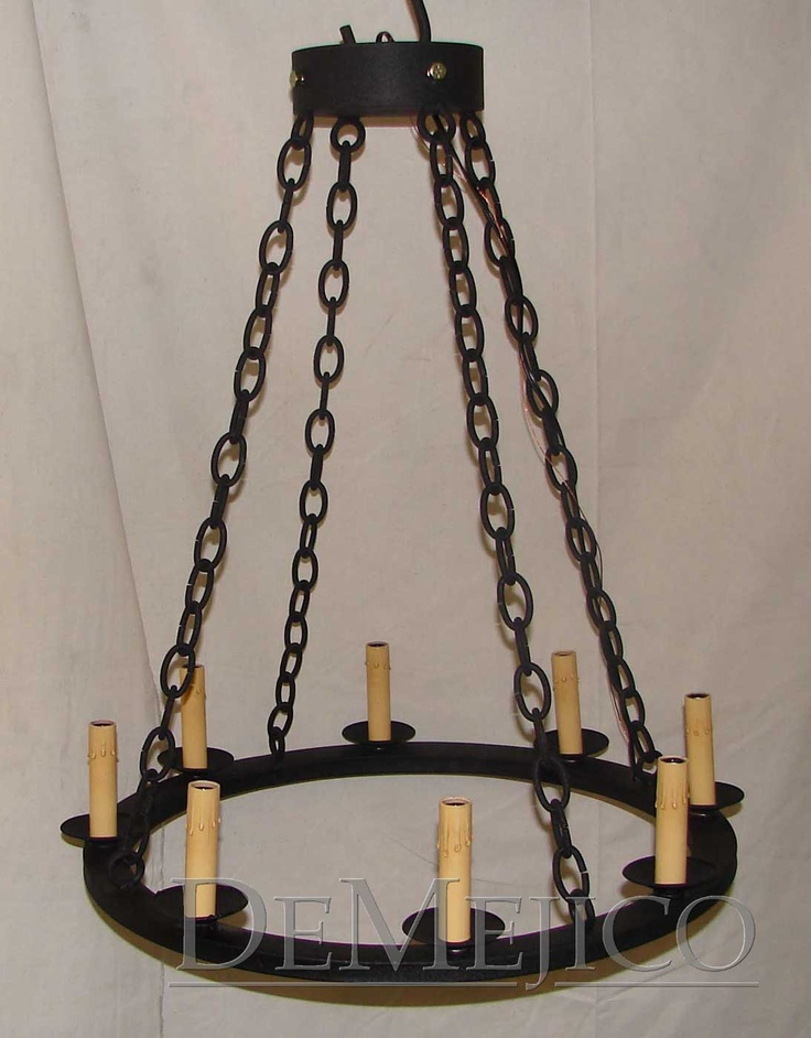Round Iron Chain Chandelier Lighting