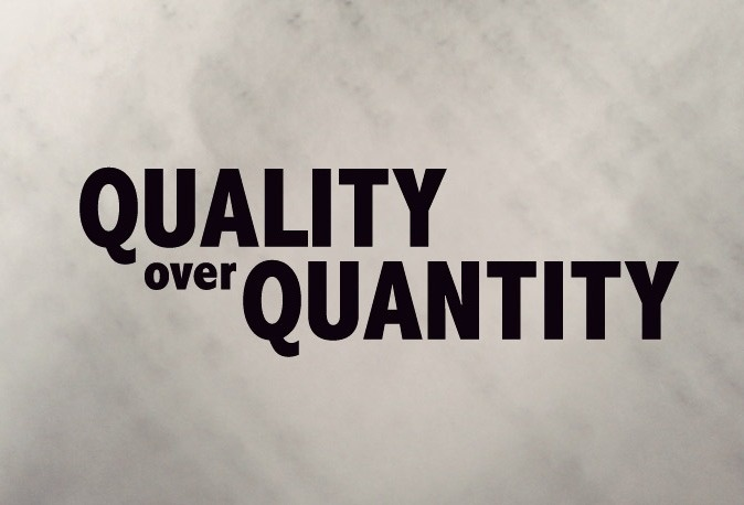 Quantity And Quality Quotes Like Success