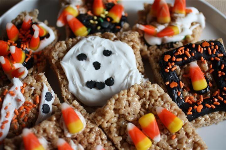 Pumpkin Pie Spice Rice Krispie Treats from @Brandy Clabaugh