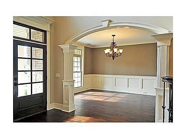 Dining room front door trim feather my nest pinterest for Front room dining room ideas