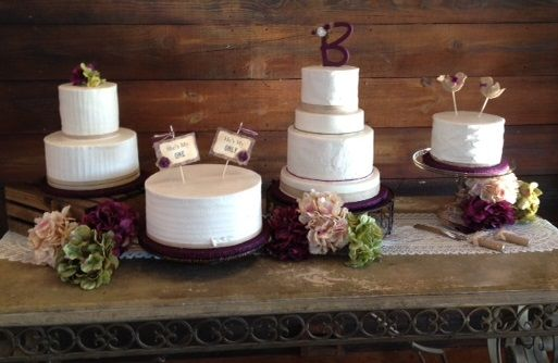 Rustic wedding cakes for a Western themed wedding.