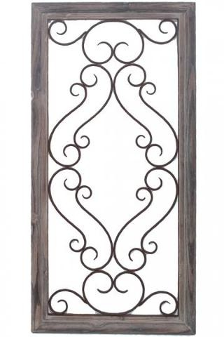 Iron scrolls wall decor for the home pinterest for Iron scroll wall art