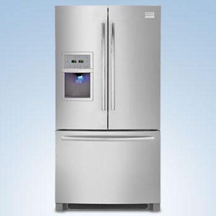 Freezer refrigerator stainless steel no fingerprints 2599 sears