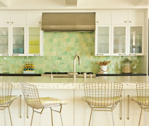 green yellow backsplash for the home pinterest