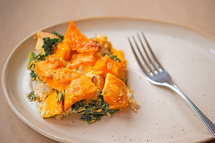 Butternut Squash and Kale Bread Pudding | Breakfast, Lunch, and Dinne ...