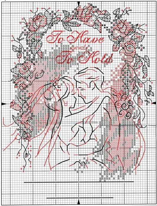 Метрика на свадьбу вышивка схема