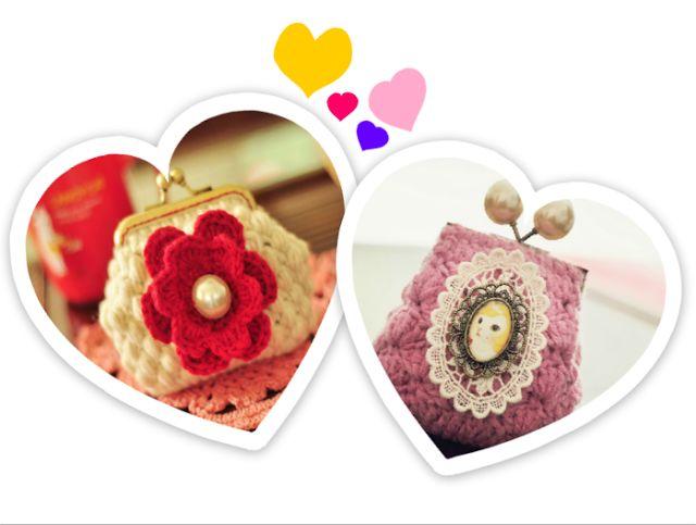 Patrones Crochet: 2 Monederos de Crochet muy Creativos