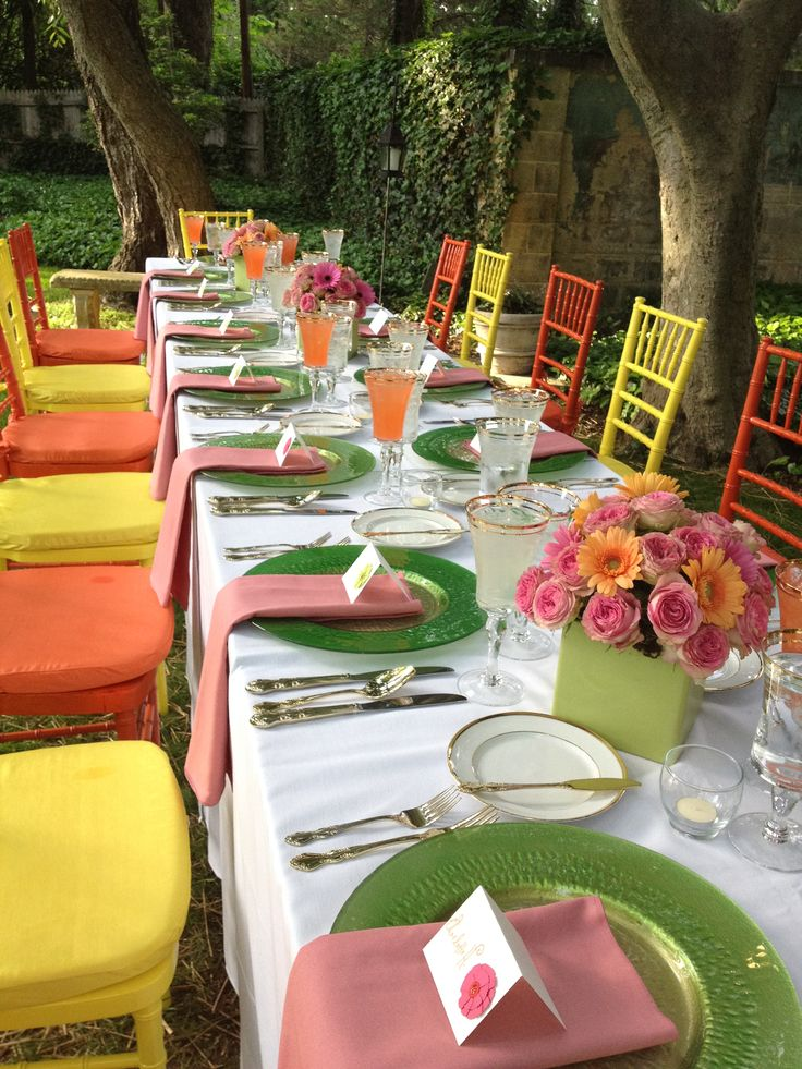 Outdoor Reception Table Setting Tablescapes Pinterest