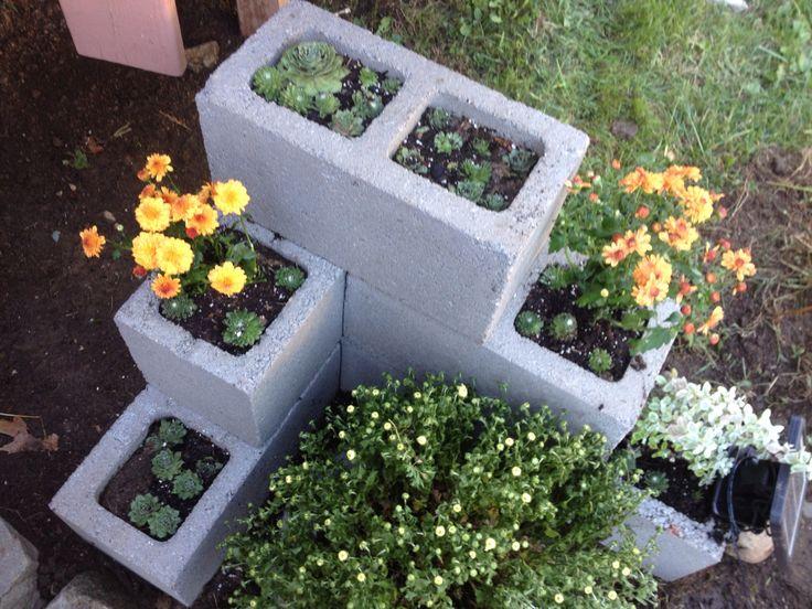 Dyi cinder block planter home decor pinterest for Garden designs by jacqueline