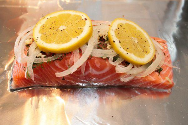 Lemon Garlic Dill Salmon | Everything Else Food | Pinterest