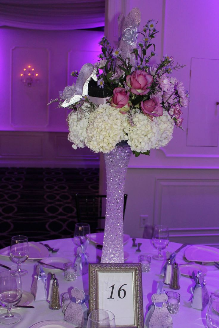 Centerpiece for a sweet 16 sweet 16 party ideas pinterest for Flower arrangements for sweet 16