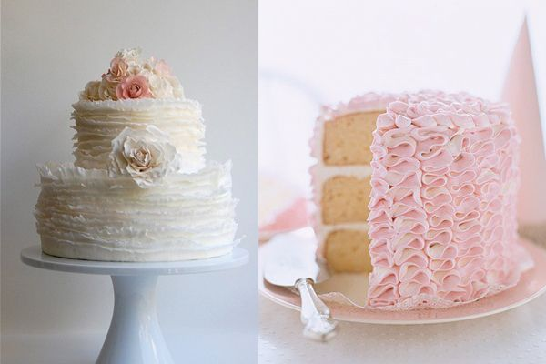 Pretty-Ruffled-Wedding-Cakes