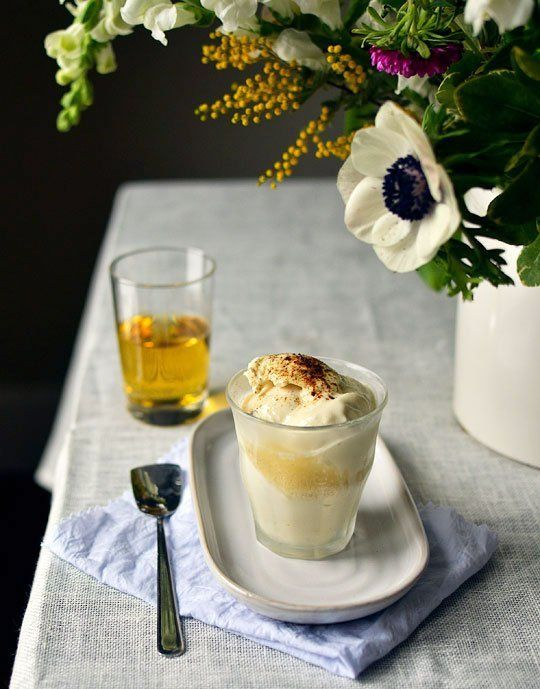 Tea affogato - pour hot tea (chai would be delicious!) over vanilla ...