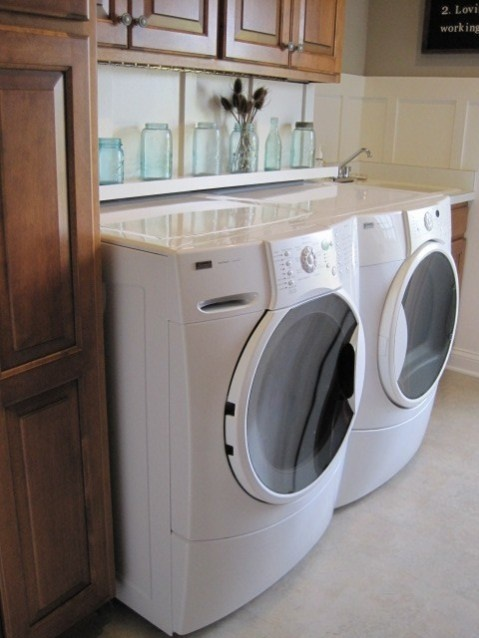 Shelves Over The Washer Dryer Home Pinterest