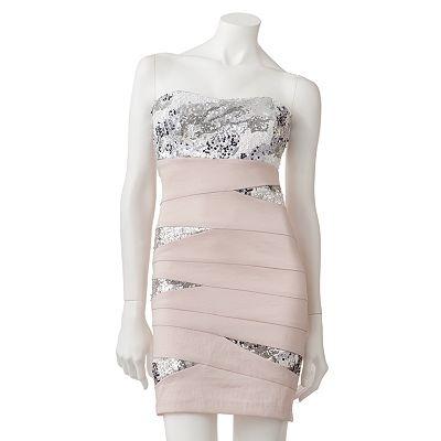 My Michelle Sequin Bandage Tube Dress