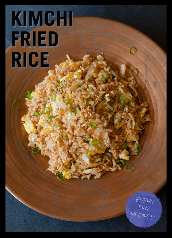 Kimchi fried rice | Completed food pins | Pinterest