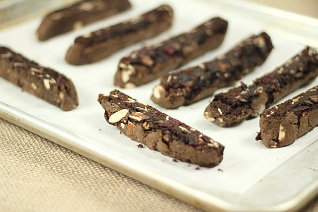 Cranberry Almond Chocolate Biscotti Dipped in Dove Chocolate | Recipe