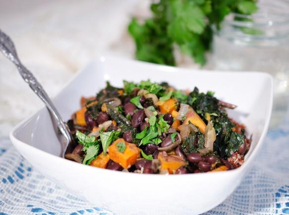 Kale, Black bean, Sweet potato salad | soups & salads | Pinterest