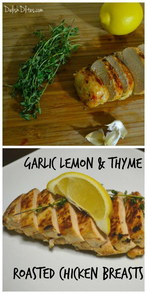 Garlic-Roasted Chicken Breasts Recipe — Dishmaps