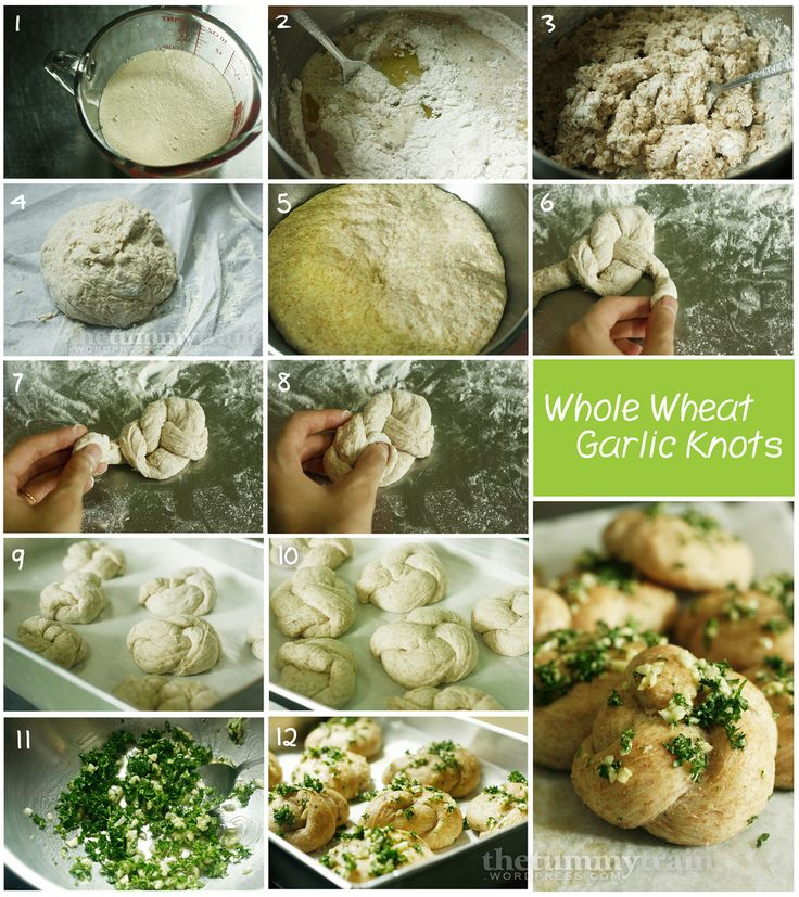 Whole Wheat Garlic Knots in pictures. Knotting bread = epic fun!