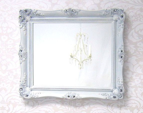 Shabby chic mirrors for sale baroque framed mirror for Fancy wall mirrors for sale