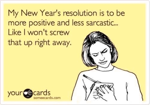 Funny new years resolution via someecards.com