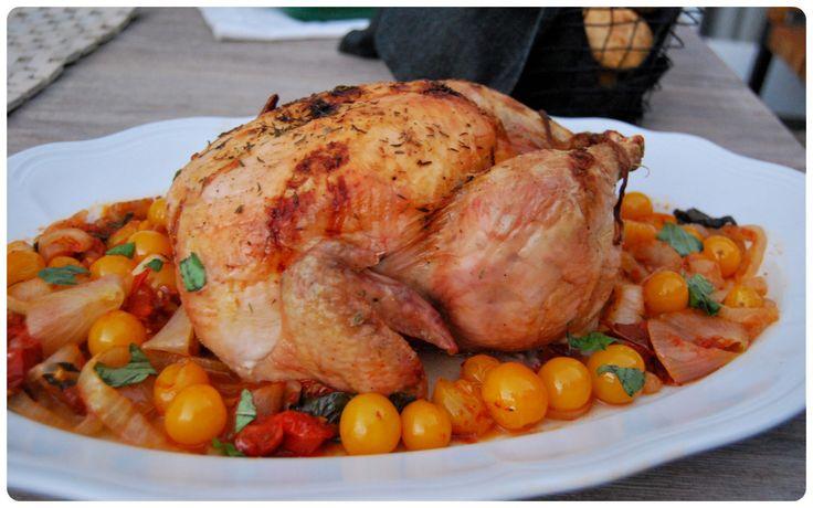 Roast chicken with lemons | Chicken recipes | Pinterest