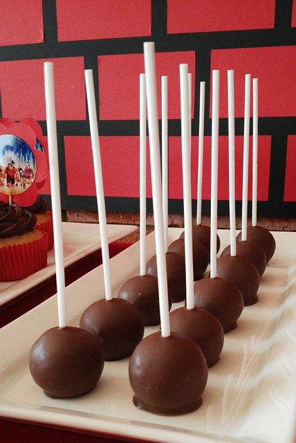 Chocolate Cherry Bombs | Wreck-It Ralph Party | Pinterest