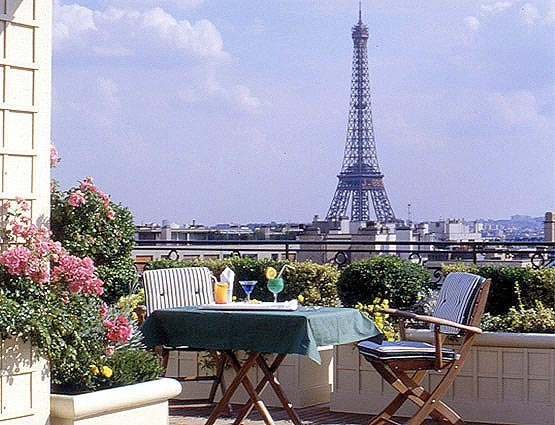 paris hotels with rooftop terrace