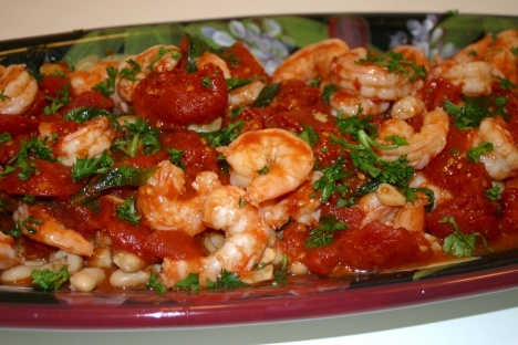 Tuscan Shrimp with White Beans | Nom Nom | Pinterest
