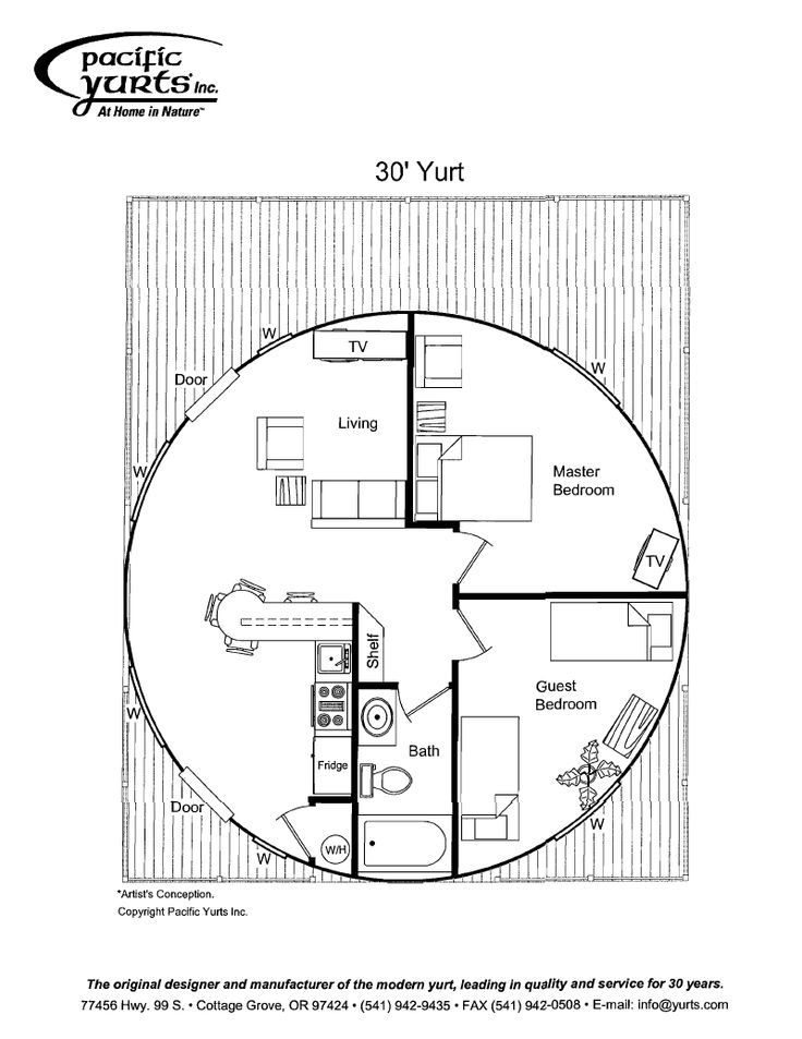 Yurt Floor Plan Yurt Pinterest