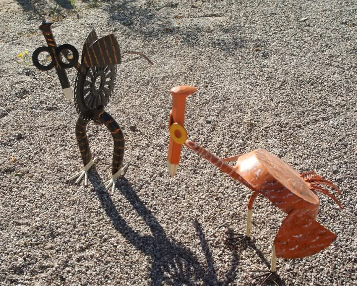 Yard art ideas from junk easy junk art garden pinterest for Yard art ideas